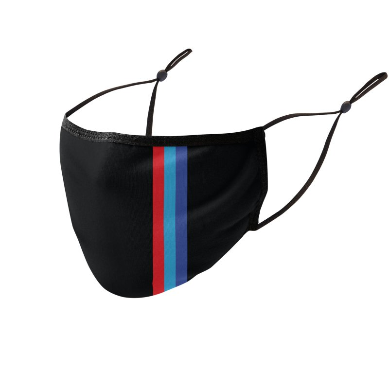 """""""Bimmer"""" Tri Bar Black Facemask Accessories Face Mask by The ART of CAR"""