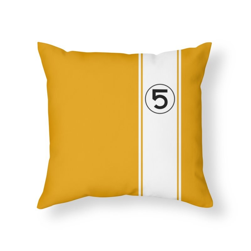 1960's Vintage GT40 Throw Pillow Home Throw Pillow by The ART of CAR