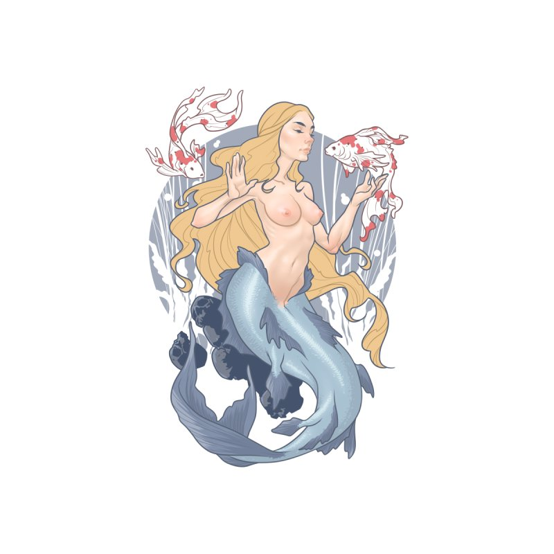 Mermaid Accessories Sticker by The Art of Lucas Silva