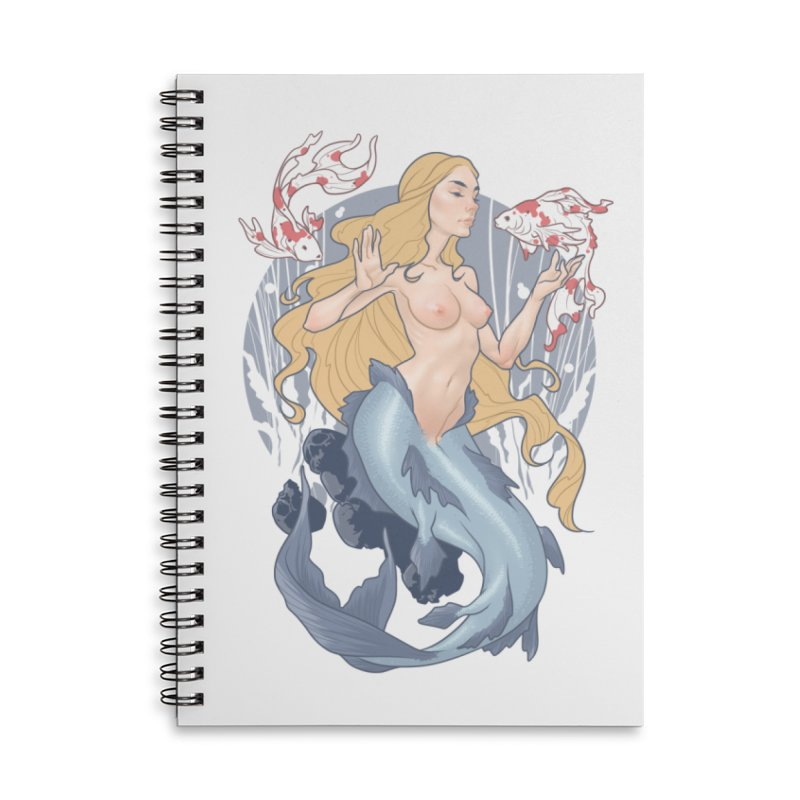 Mermaid Accessories Lined Spiral Notebook by The Art of Lucas Silva