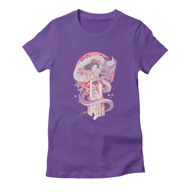 The Gueisha and The Dragon Women's T-Shirt by The Art of Lucas Silva