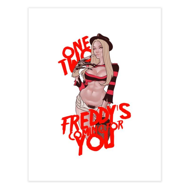 Female Freddy Krueger Home Fine Art Print by The Art of Lucas Silva