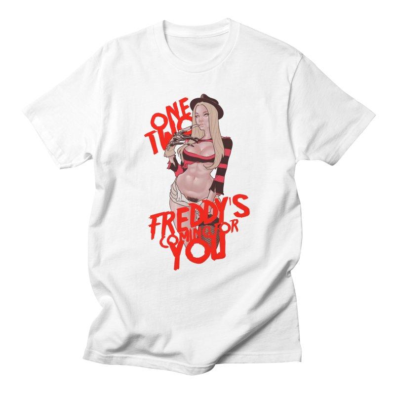 Female Freddy Krueger Men's T-Shirt by The Art of Lucas Silva