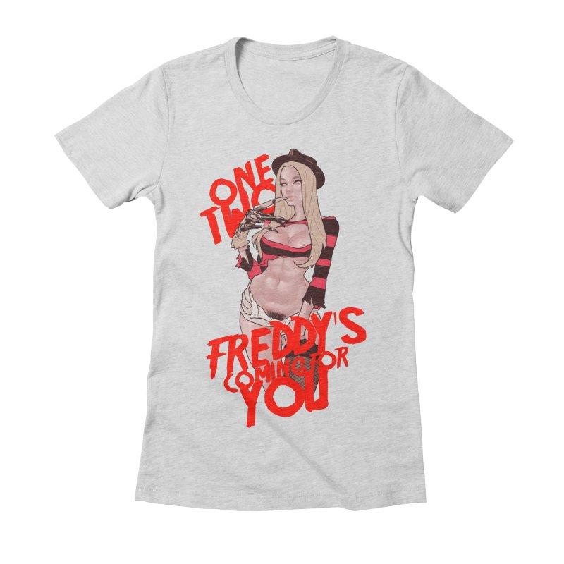 Female Freddy Krueger Women's Fitted T-Shirt by The Art of Lucas Silva