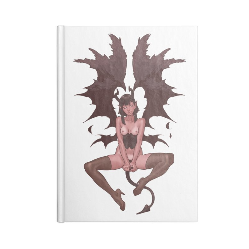 Succubus Accessories Blank Journal Notebook by The Art of Lucas Silva