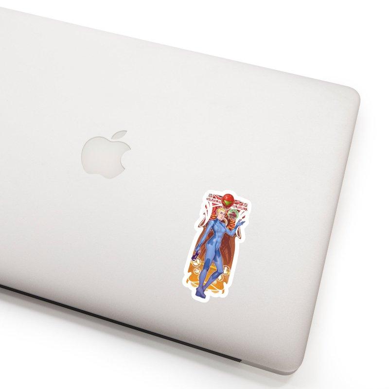 Samus Aran Accessories Sticker by The Art of Lucas Silva