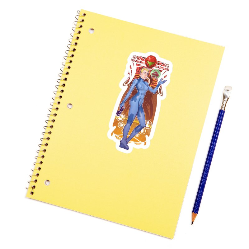Samus Aran Accessories Sticker by The Art of Lucas Silva
