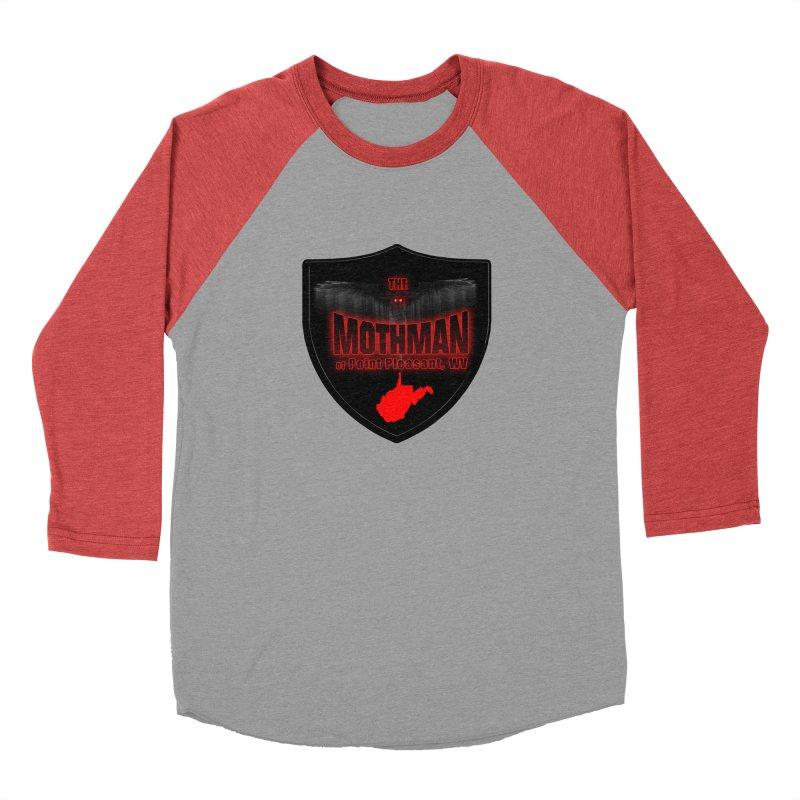 Mothman Pt Pleasant Blk Shield Men's Longsleeve T-Shirt by theartofron's Artist Shop