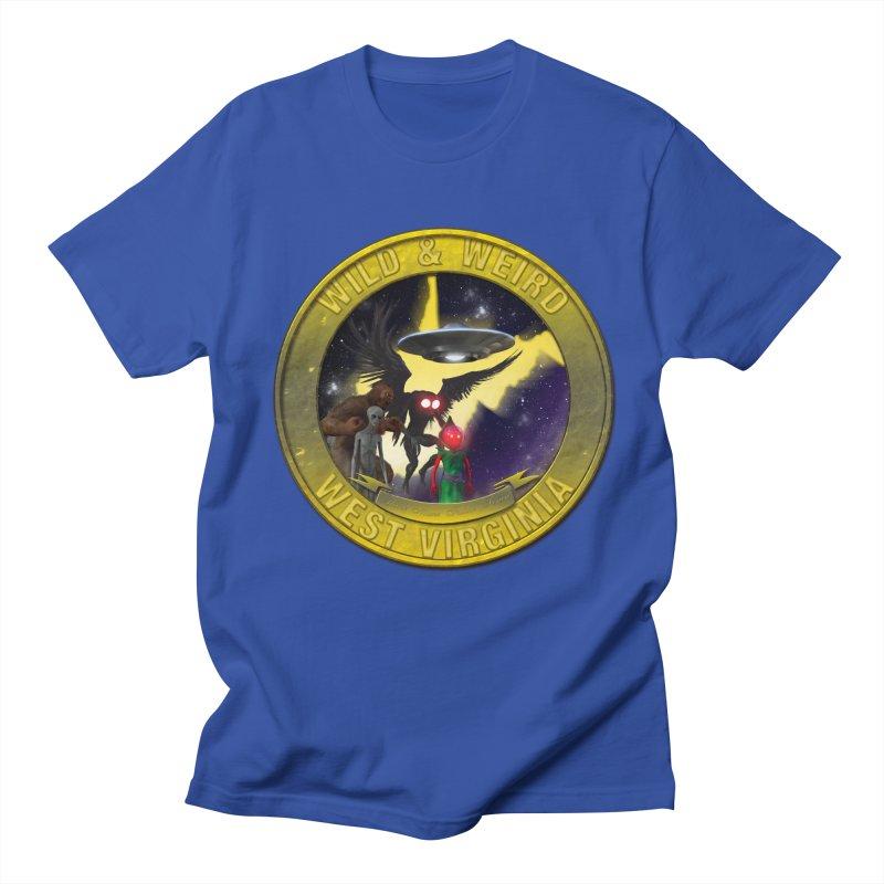 Wild & Weird WV Shield (stay wild stay weird) Men's T-Shirt by theartofron's Artist Shop