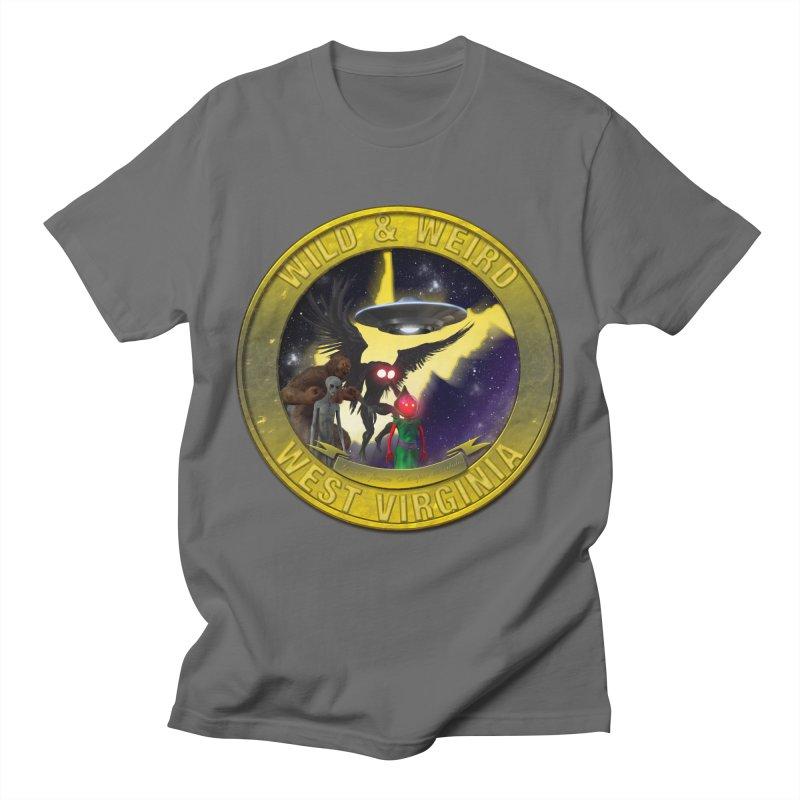 Wild & Weird Shield (Always wild Always Weird) Men's T-Shirt by theartofron's Artist Shop