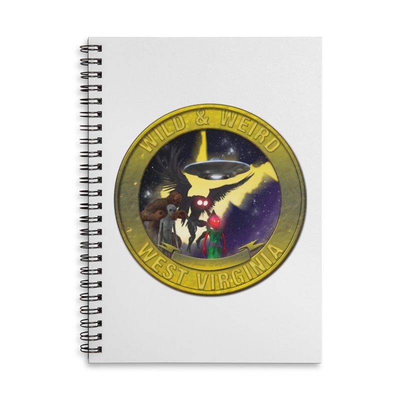 Wild & Weird Shield (Always wild Always Weird) Accessories Notebook by theartofron's Artist Shop