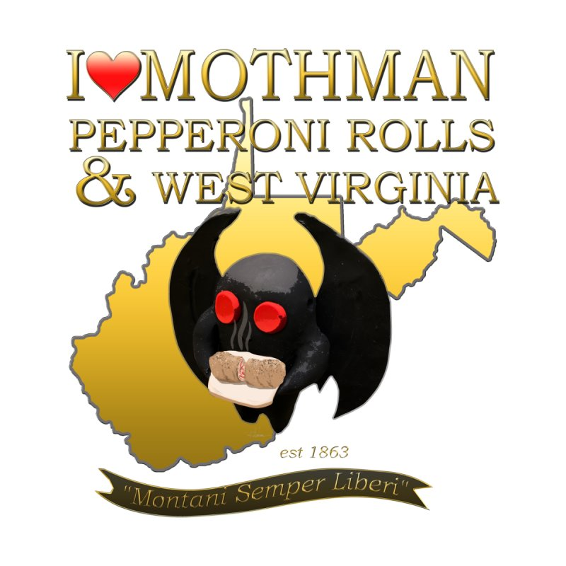 MOTHMAN WV Day Special Men's T-Shirt by theartofron's Artist Shop
