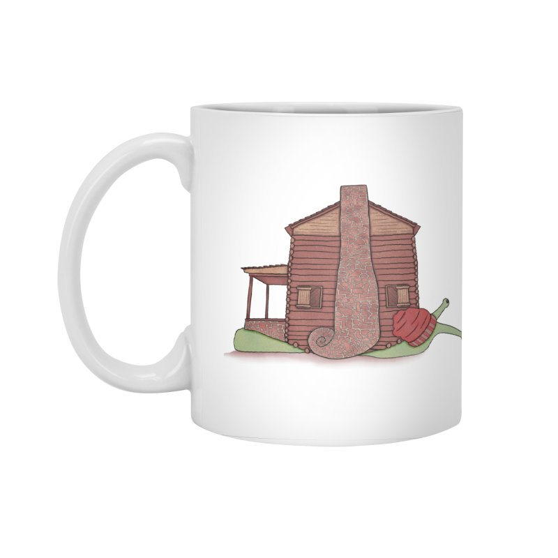 Cabin Snail Accessories Standard Mug by The Art of Rosemary