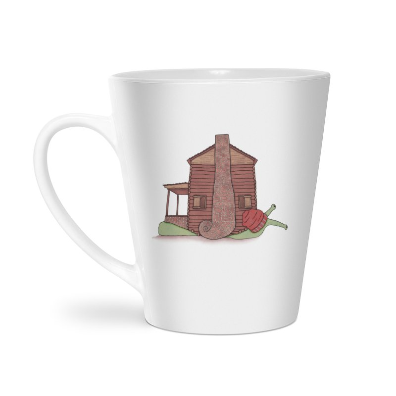 Cabin Snail Accessories Latte Mug by The Art of Rosemary