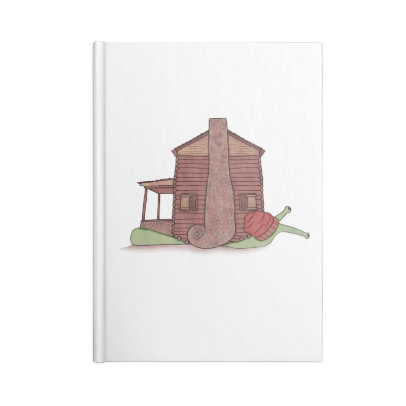 Cabin Snail Accessories Lined Journal Notebook by The Art of Rosemary
