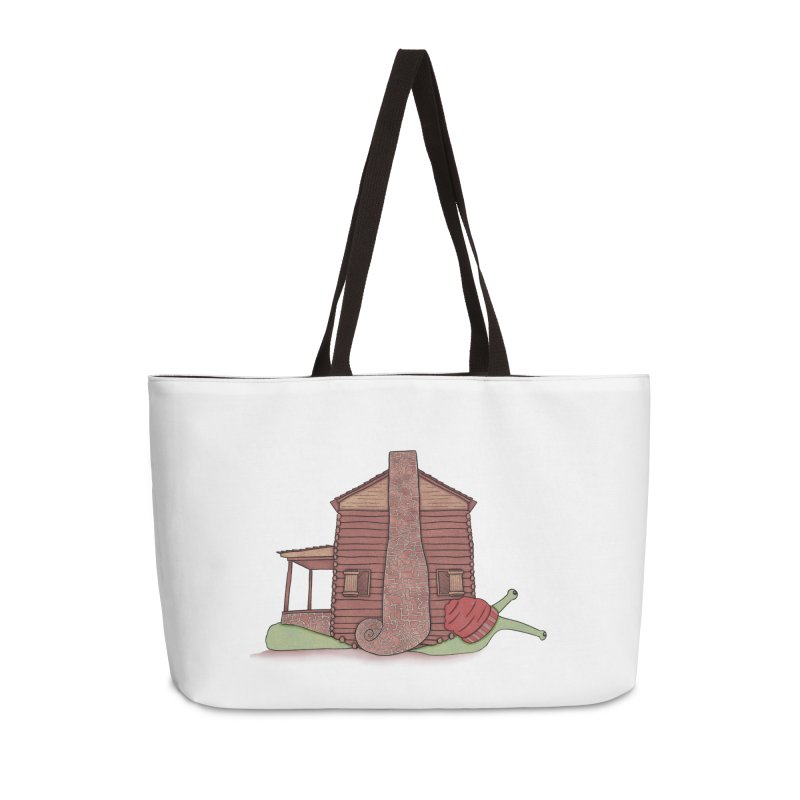 Cabin Snail Accessories Weekender Bag Bag by The Art of Rosemary