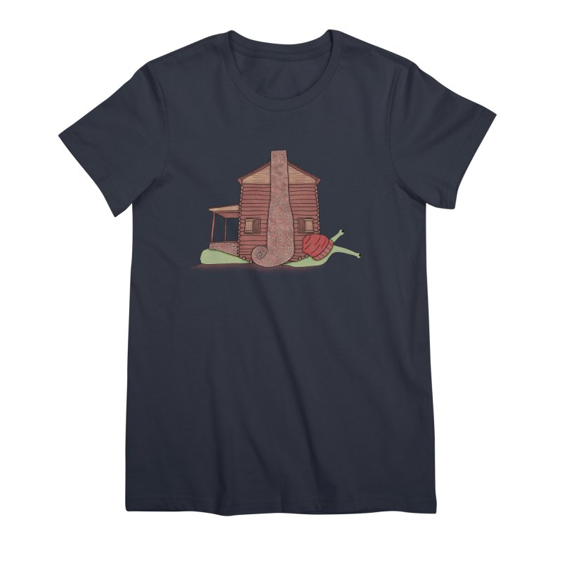 Cabin Snail Women's Premium T-Shirt by The Art of Rosemary