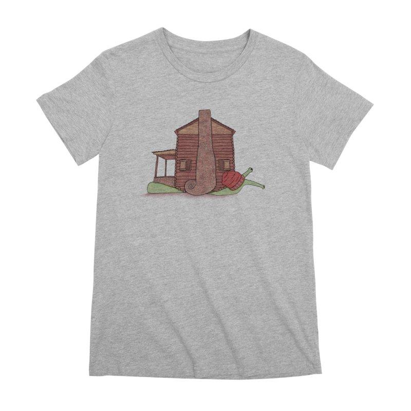 Cabin Snail Women's Premium T-Shirt by The Art of Rosemary