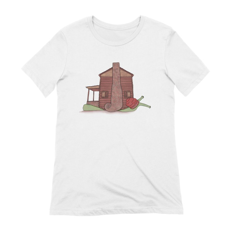 Cabin Snail Women's Extra Soft T-Shirt by The Art of Rosemary