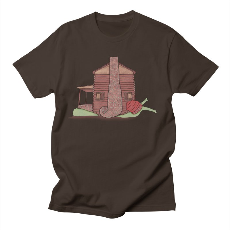 Cabin Snail Men's T-Shirt by The Art of Rosemary