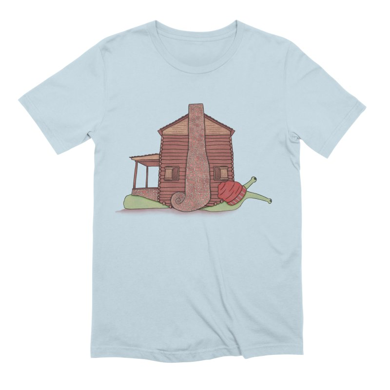 Cabin Snail Men's Extra Soft T-Shirt by The Art of Rosemary