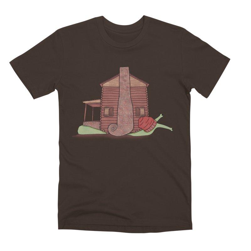 Cabin Snail Men's Premium T-Shirt by The Art of Rosemary