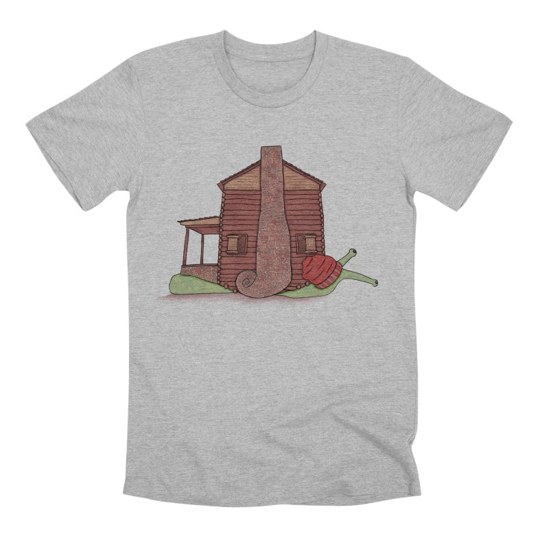 Cabin Snail Men's Premium T-Shirt by The Art of Rosemary