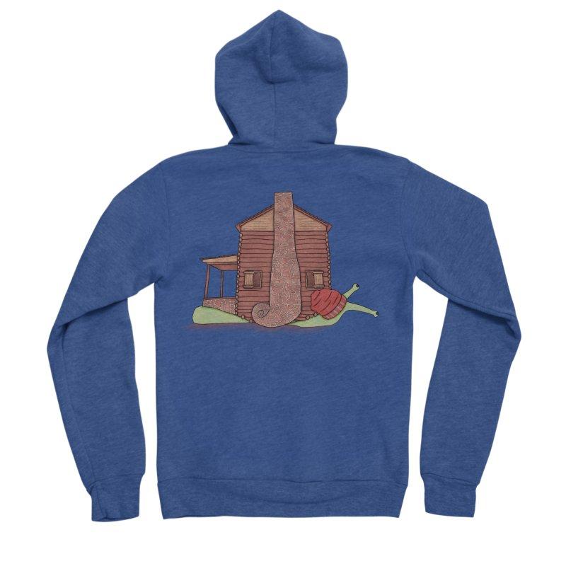 Cabin Snail Women's Sponge Fleece Zip-Up Hoody by The Art of Rosemary