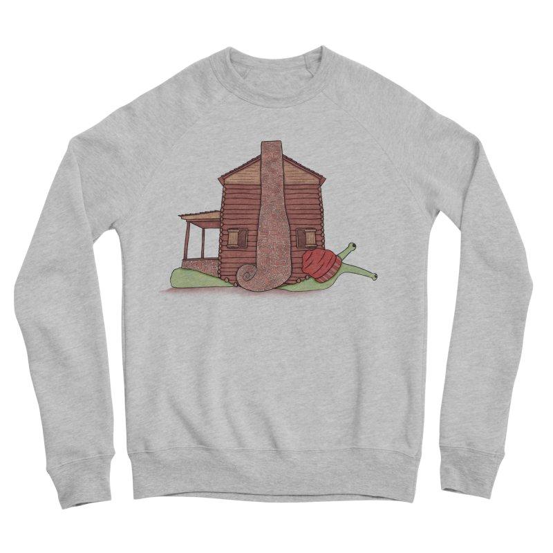 Cabin Snail Men's Sponge Fleece Sweatshirt by The Art of Rosemary