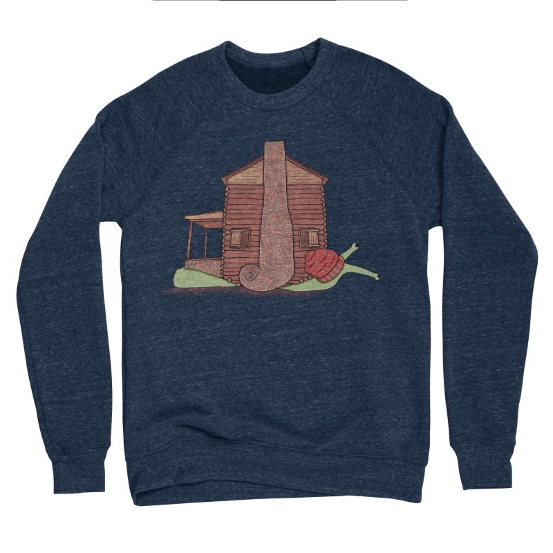 Cabin Snail Men's Sponge Fleece Sweatshirt by The Art of Rosemary
