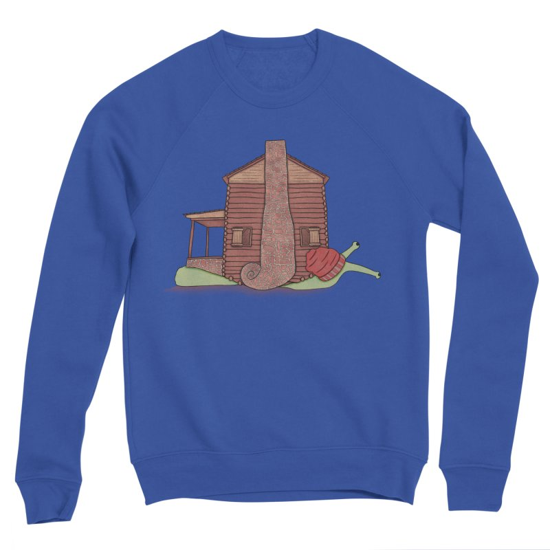 Cabin Snail Men's Sweatshirt by The Art of Rosemary