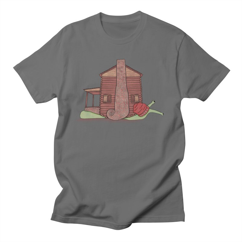 Cabin Snail Men's T-Shirt by The Art of Rosemary