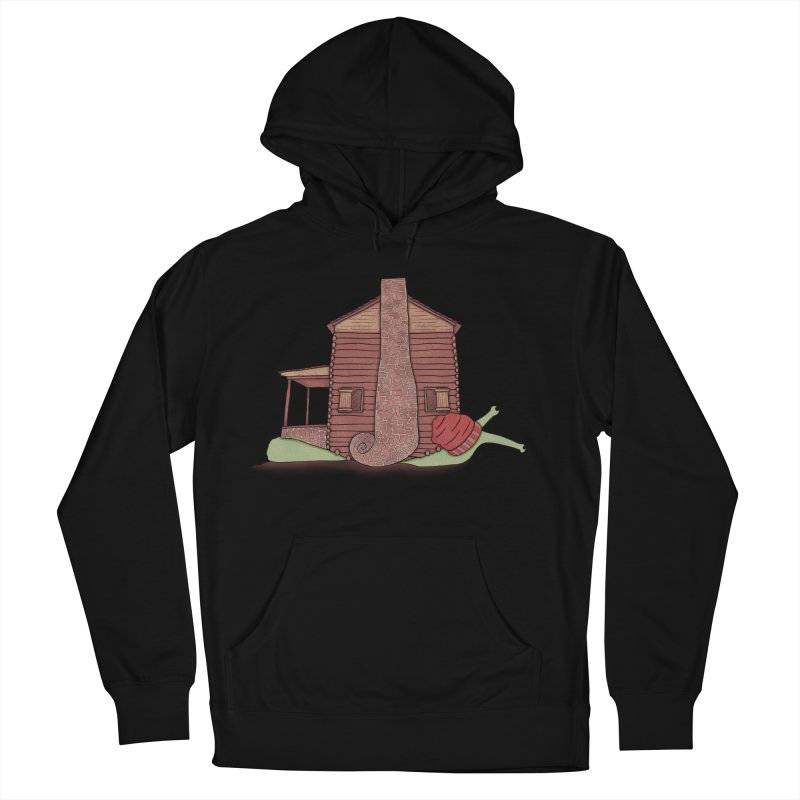 Cabin Snail Women's French Terry Pullover Hoody by The Art of Rosemary