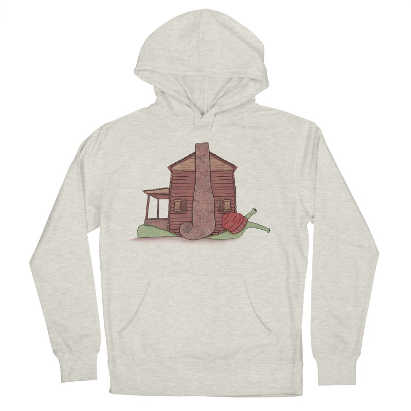 Cabin Snail Men's French Terry Pullover Hoody by The Art of Rosemary