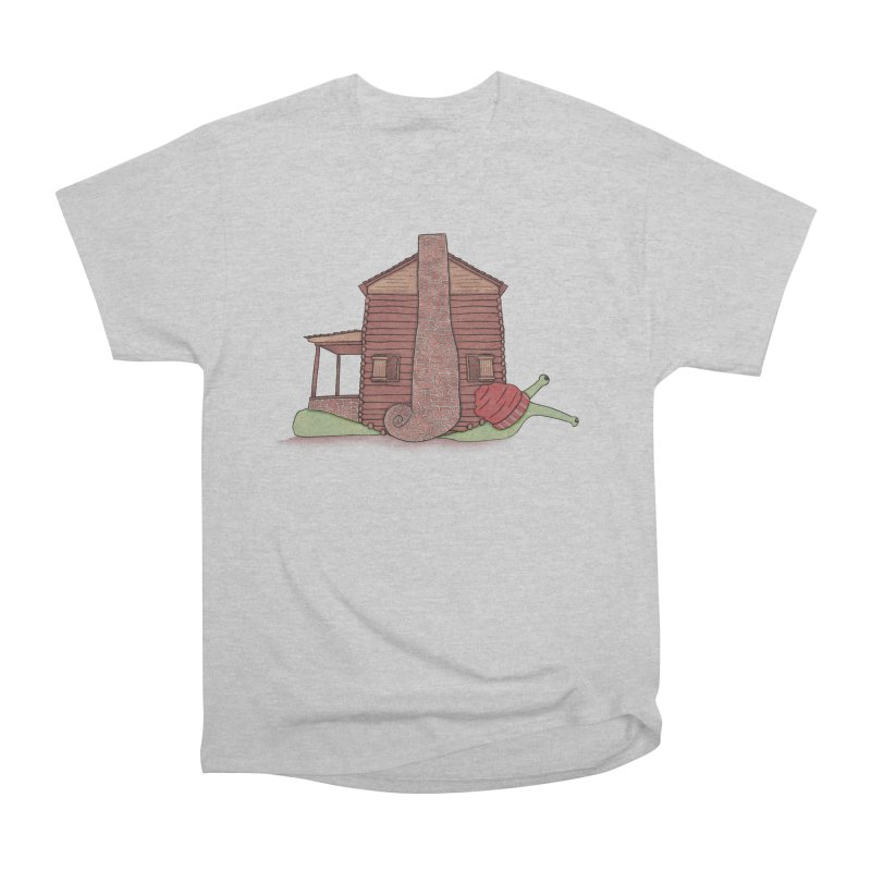 Cabin Snail Men's Heavyweight T-Shirt by The Art of Rosemary