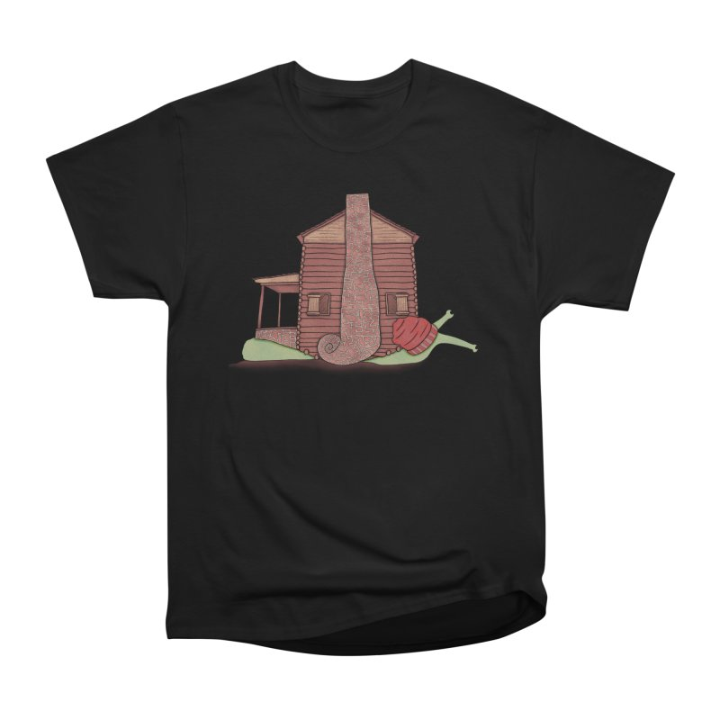 Cabin Snail Women's Heavyweight Unisex T-Shirt by The Art of Rosemary