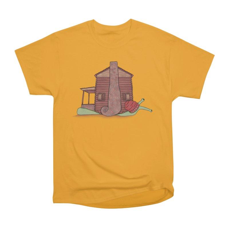 Cabin Snail Women's Heavyweight Unisex T-Shirt by The Art of Rosemary