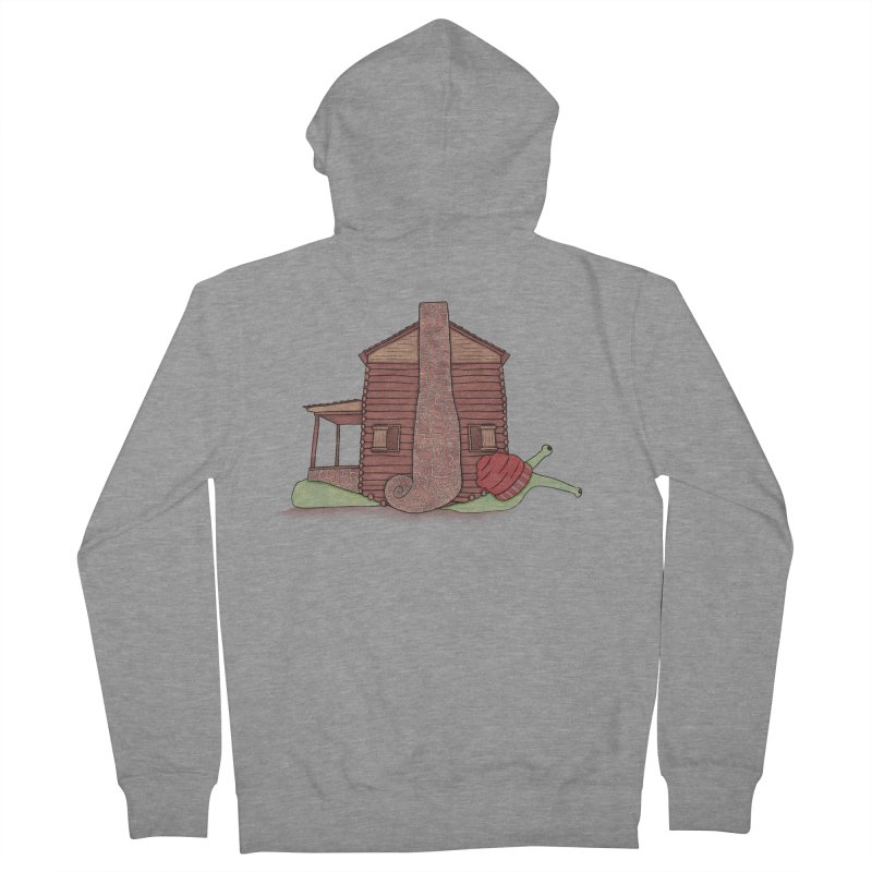 Cabin Snail Women's French Terry Zip-Up Hoody by The Art of Rosemary