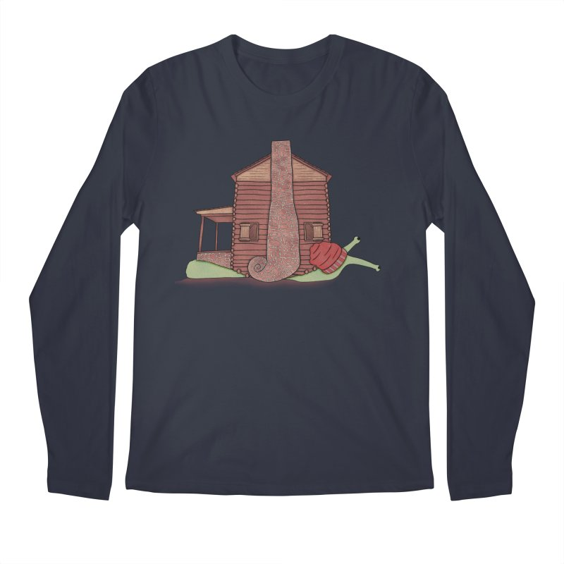 Cabin Snail Men's Regular Longsleeve T-Shirt by The Art of Rosemary