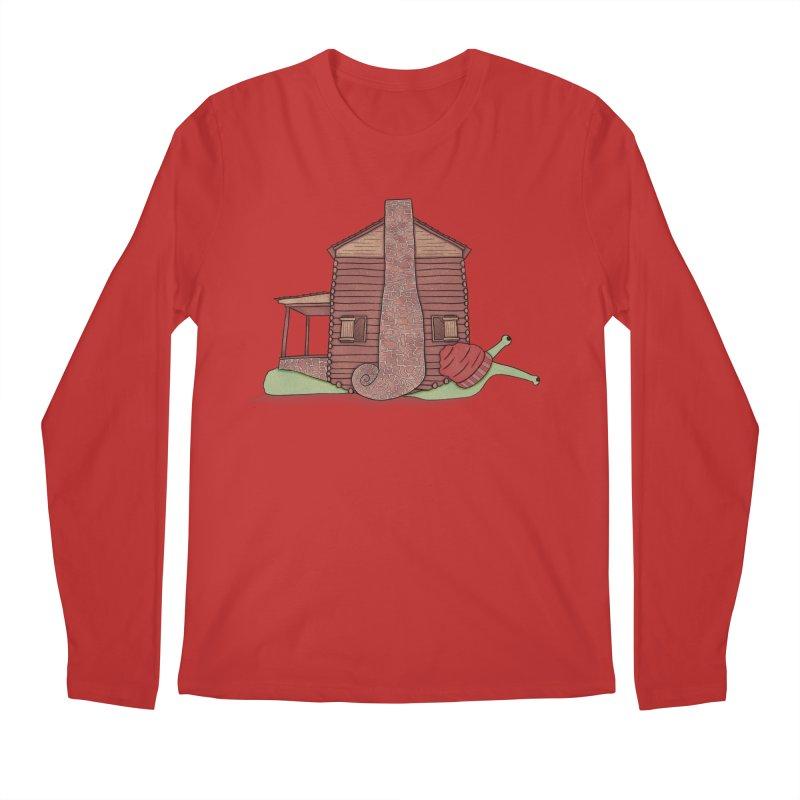 Cabin Snail Men's Regular Longsleeve T-Shirt by The Art of Rosemary