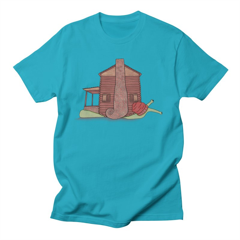 Cabin Snail Men's Regular T-Shirt by The Art of Rosemary