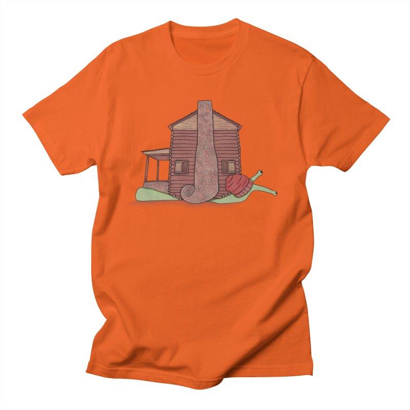 Cabin Snail Women's Regular Unisex T-Shirt by The Art of Rosemary