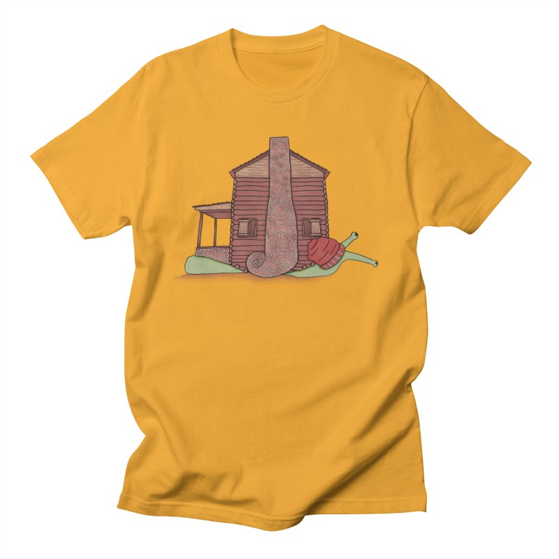 Cabin Snail Men's Regular T-Shirt by The Art of Rosemary