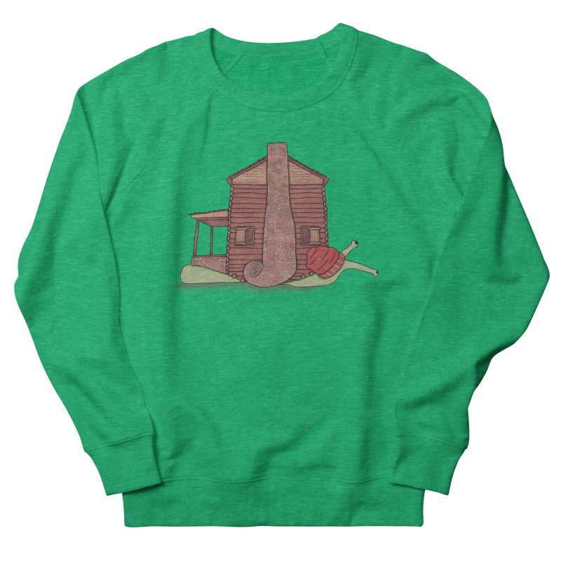 Cabin Snail Women's French Terry Sweatshirt by The Art of Rosemary