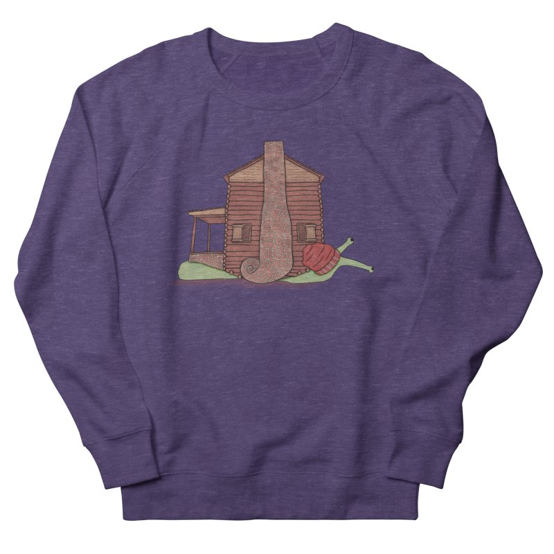 Cabin Snail Men's French Terry Sweatshirt by The Art of Rosemary