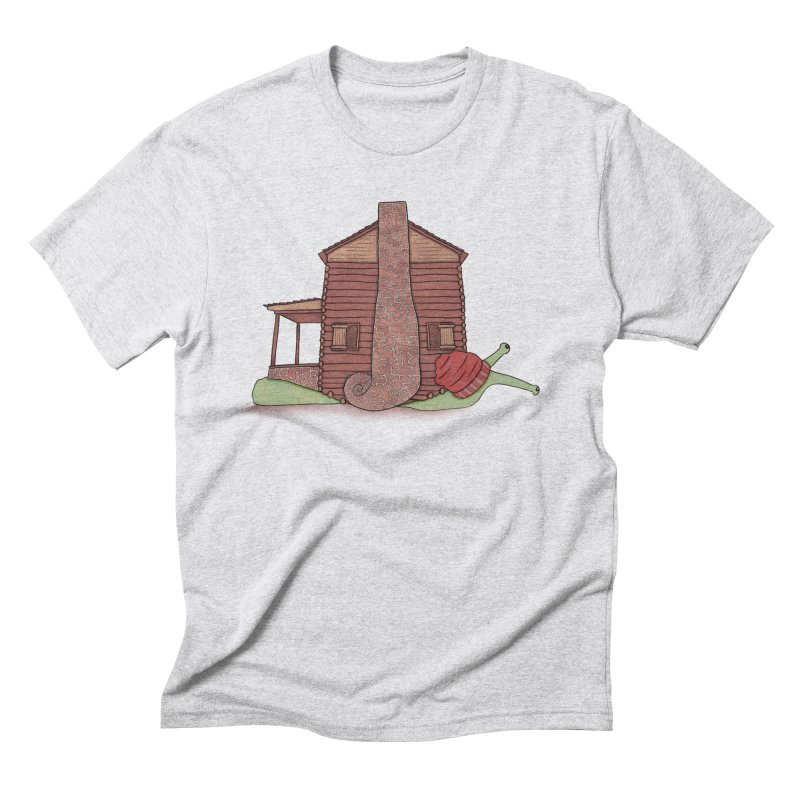 Cabin Snail Men's Triblend T-Shirt by The Art of Rosemary