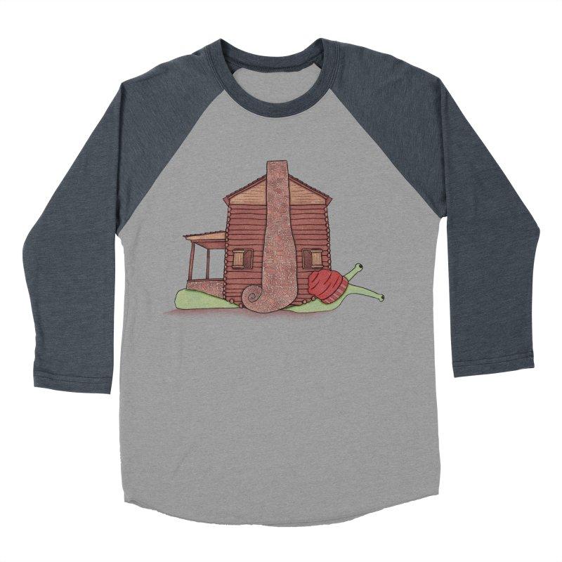 Cabin Snail Men's Baseball Triblend Longsleeve T-Shirt by The Art of Rosemary