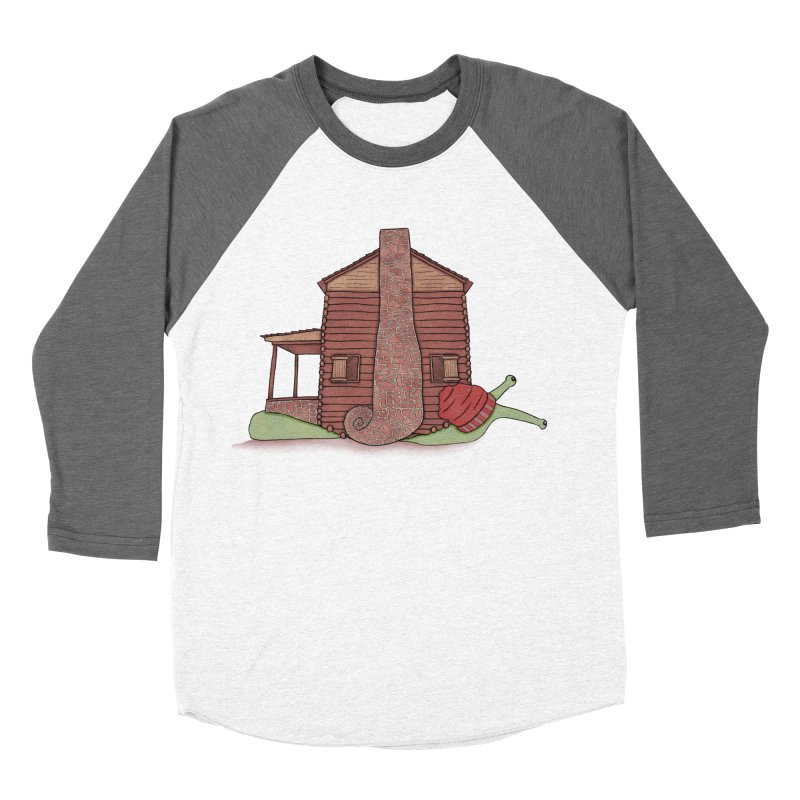 Cabin Snail Men's Baseball Triblend Longsleeve T-Shirt by The Art of Rosemary