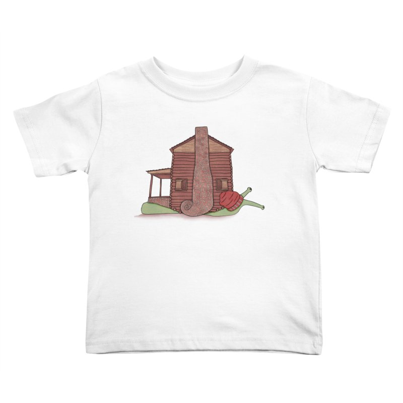 Cabin Snail Kids Toddler T-Shirt by The Art of Rosemary