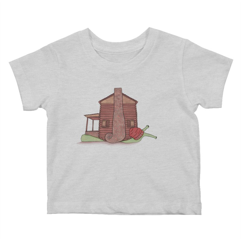 Cabin Snail Kids Baby T-Shirt by The Art of Rosemary